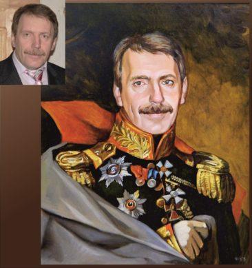 Настоящий портрет маслом на заказ в Шимкенте…