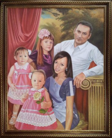 Семейный портрет маслом в Шимкенте — правильная традиция…