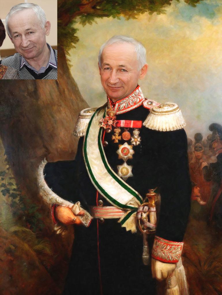 Где заказать исторический портрет по фото на холсте в Шимкенте?