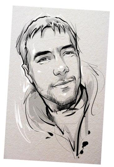 Портрет карандашом любимому мужу в Шимкенте…