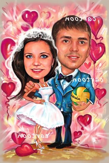 Свадебный шарж с оригинальным сюжетом в Шимкенте!