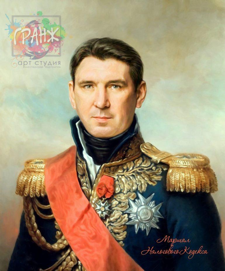 Портрет по фото на холсте в подарок мужчине Шимкент
