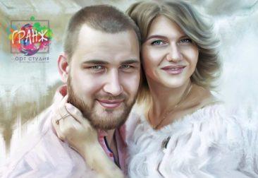Где заказать портрет по фотографии на холсте в Шимкенте?