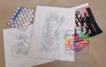 Картина по номерам по фото, портреты на холсте и дереве в Шимкенте